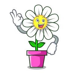 Okay daisy flower character cartoon