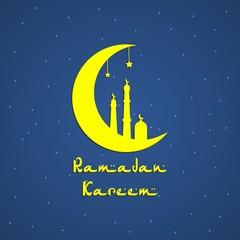 Ramadan Kareem Vector Illustration For Greeting Card, Celebration Card