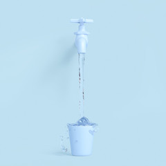 Water tap minimal concept