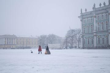 Snowy St. Petersburg