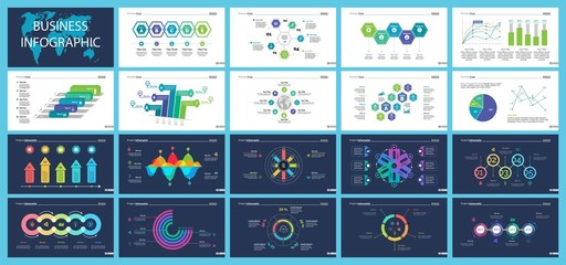 Business inforgraphic slide design set