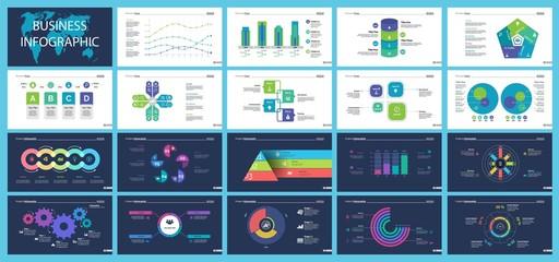 Business presentation slide template design set