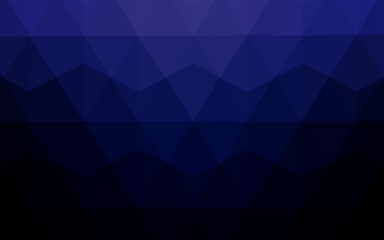 Dark BLUE vector low poly layout.