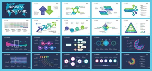 Set of accounting or statistics concept infographic charts