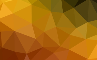 Dark Orange vector abstract polygonal pattern.