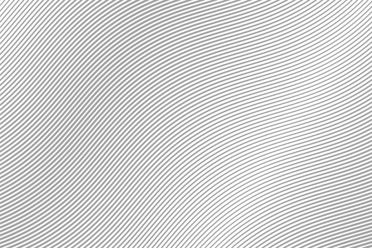 Abstract Wave Gray Stripes. . Motion Line. Vector illustration Curved Lines