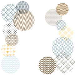 Japanese pattern template. Geometric background vector. Circle elements.