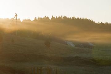 fog over the village