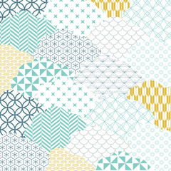 Japanese pattern vector. Cloud shape background.