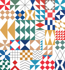 Abstract pattern vector. Geometric background. Colorful Trendy flat pattern, frame with abstract background for brochure, flyer or presentations design, vector illustration.