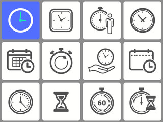 Clock vector icon.