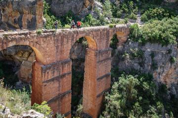 Roman aquaeduct in Chelva village, Spain