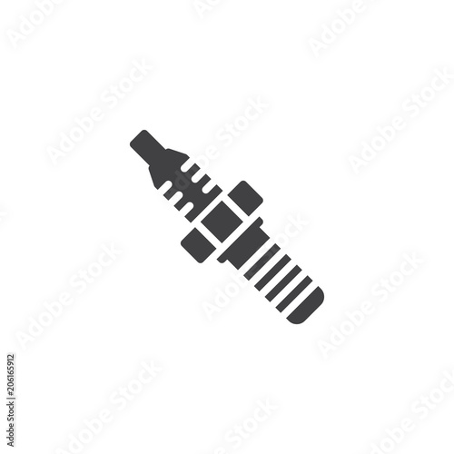Car Spark Plug Vector Icon Filled Flat Sign For Mobile Concept And
