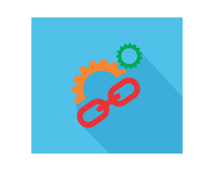 chain gear business company office corporate image vector icon logo