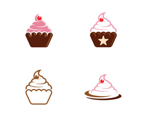 Cake sign icon vector illustration design template