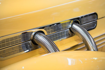 detail of a restored American car