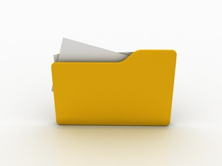 3d rendering folder with documents