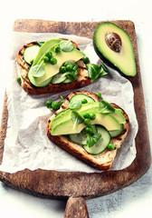 Healthy avocado toasts