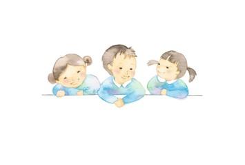 幼児、3人