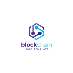 Cryptocurrency Blockchain Logo Template 7
