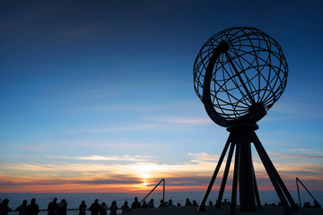 Midnight Sun on Nordkapp, Norway