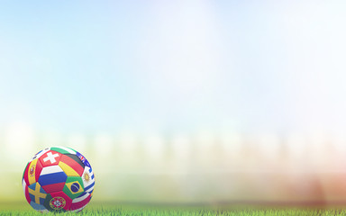 soccer ball russia 3d rendering