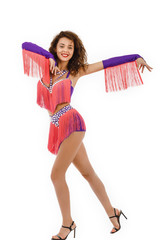 Brazilian dancer Samba wearing the specific costume