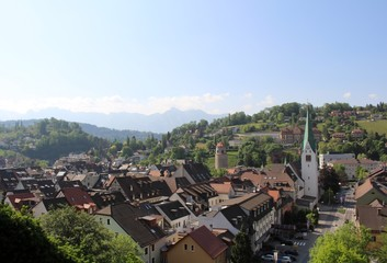 Blick über Feldkirch Österreich.