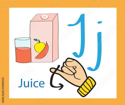 creative english alphabet. abc concept. sign language and alphabet