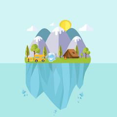 Camping Travel Landscape island