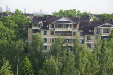 green Moscow in the summer