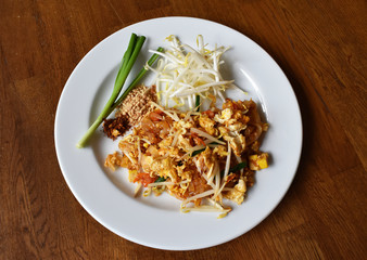 Pad Thai Noodle is Thai Food Style. The one of Thailand's national main dish, the popular food in Thailand.