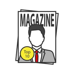 Magazine color icon