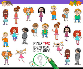 find two identical kids game for children
