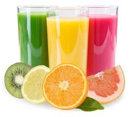 Saft Smoothie Smoothies Fruchtsaft Früchte isoliert freigestellt Freisteller