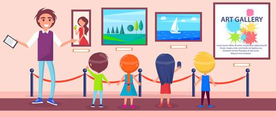Art Gallery Excursion for Children with Guide