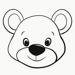 Cute little smiling bear, head