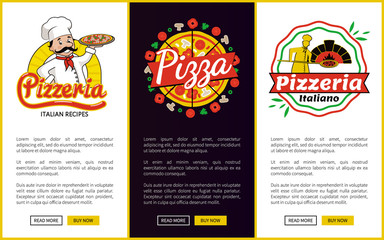 Pizzeria Collection of Web Vector Illustration