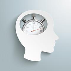 Human Head Brain Stopwatch
