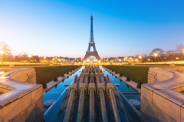 Sunrise at Eiffel Tower. Paris, France