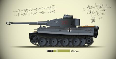 08-Char TIGRE 1 Russie 1943 avec fond
