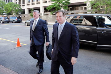 Paul Manafort arrives at the courthouse in Washington