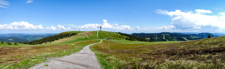Gipfelpanorama vom Feldberg