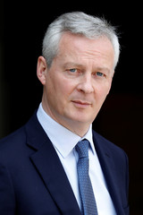 French Finance Minister Bruno Le Maire leaves after the weekly cabinet meeting at the Elysee Palace in Paris