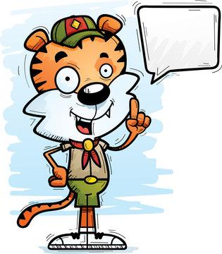 Cartoon Male Tiger Scout Talking