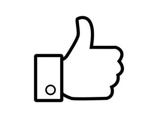 Thumb up like social media symbol vector