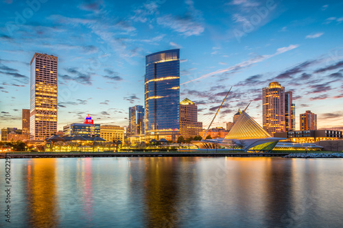 Fototapete Milwaukee, Wisconsin, USA Skyline