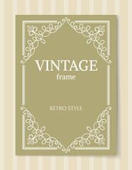Vintage Frame Retro Style Decorative Curved Border