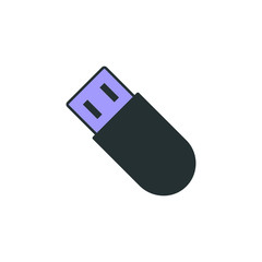 flash card icon. Element of web icon with one color for mobile concept and web apps. Isolated flash card icon can be used for web and mobile