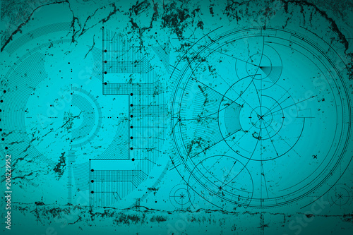Abstract grunge futuristic cyber technology background. Sci-fi ...